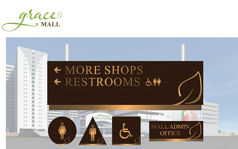 ASYA Design/QASYA - Grace Mall Signages