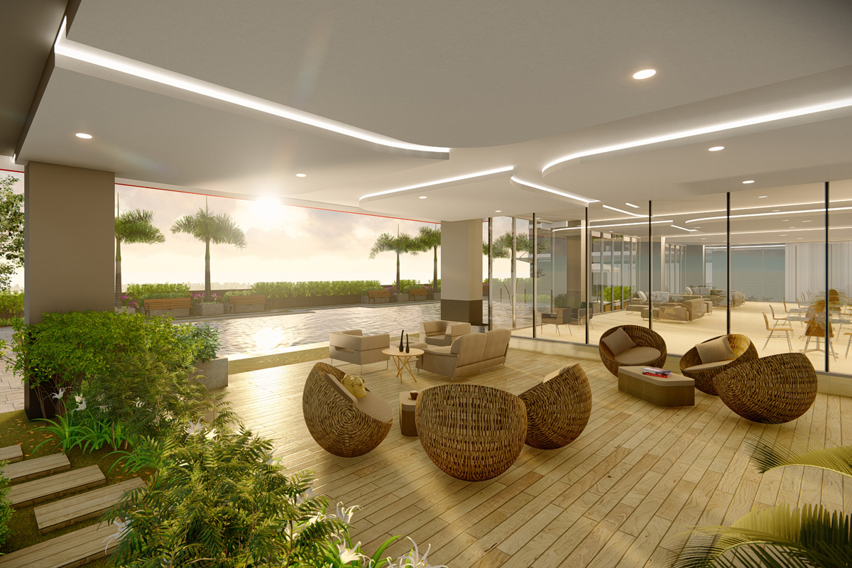 ASYA Design Projects-Red Residences Amenity Sunset View