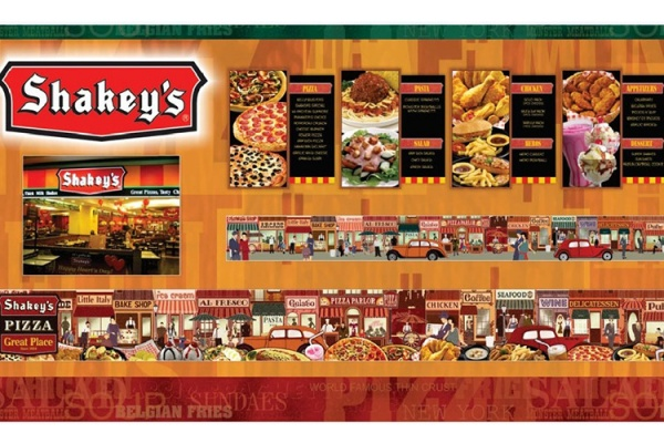 ASYA Design/QASYA - Shakey's Menu and Wall Mural
