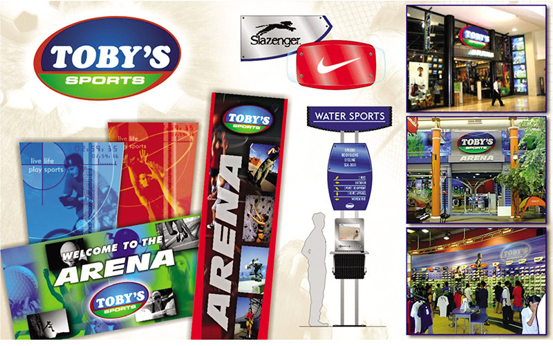 ASYA Design/QASYA - Toby's Sports Branding and Signages
