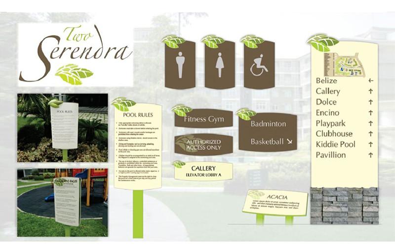 ASYA Design/QASYA - Two Serendra Signages