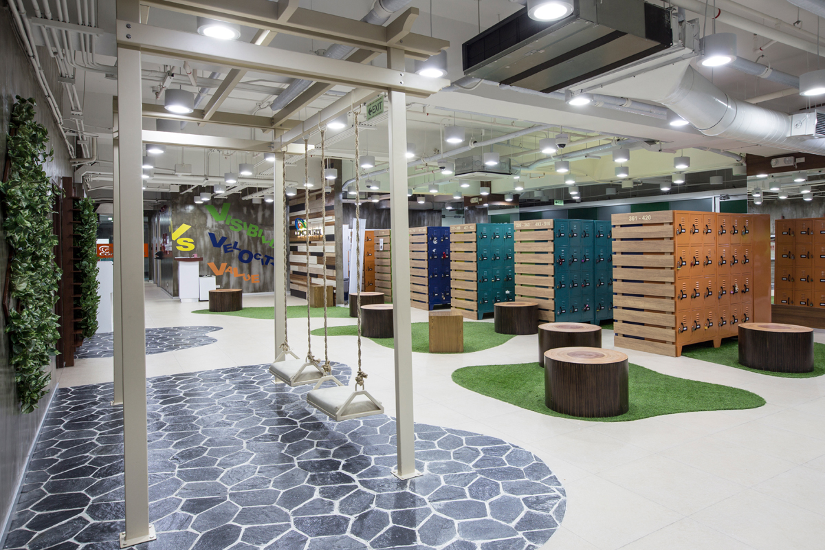 ASYA Design Projects-Concentrix Tera Locker Room