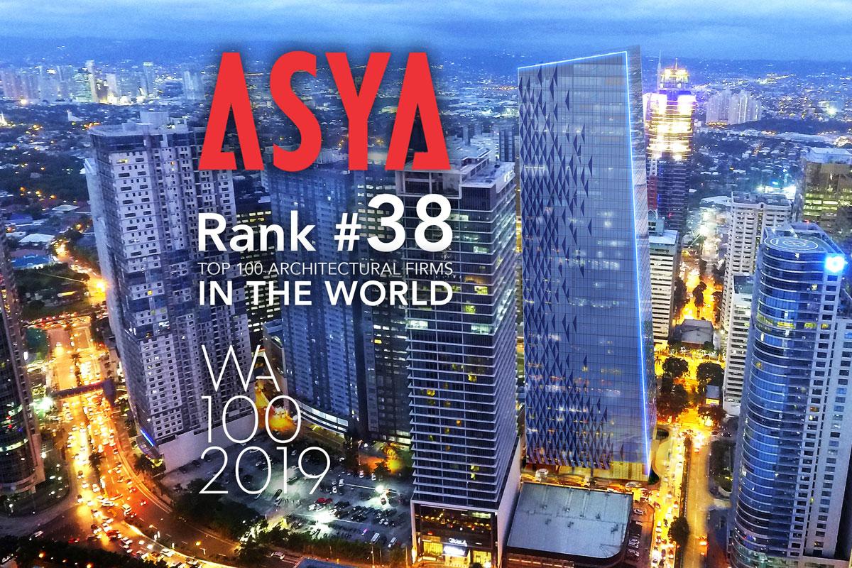 ASYA Design has secured the ranks 38 in WA 100