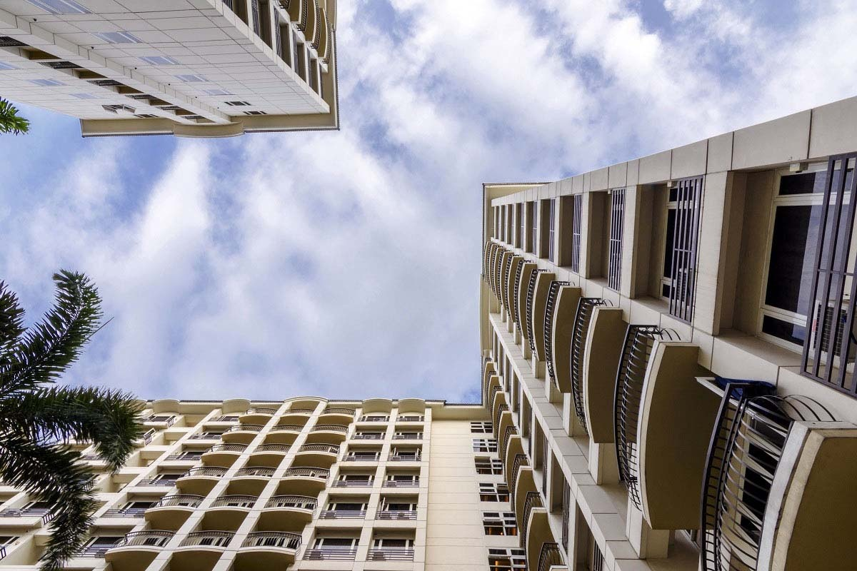 Sky view of Solemare Parksuites