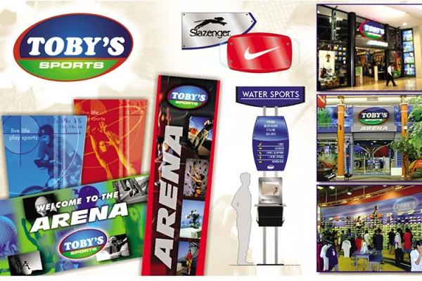 ASYA Design/QASYA - Toby's Sports Branding and Signages
